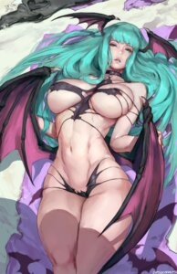 Rating: Questionable Score: 57 Tags: areola bikini_armor dark_stalkers erect_nipples morrigan_aensland robutts wings User: geb