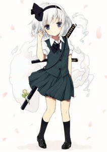 Rating: Safe Score: 46 Tags: konpaku_youmu purin_jiisan sword touhou User: Radioactive