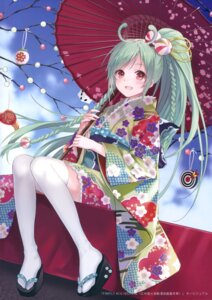 Rating: Safe Score: 86 Tags: fukahire_sanba kimono ruinon thighhighs umbrella User: Twinsenzw