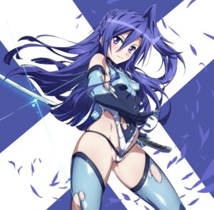 Rating: Questionable Score: 60 Tags: erect_nipples kazanari_tsubasa leotard pantsu senki_zesshou_symphogear sword tagme thighhighs torn_clothes User: Radioactive