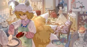 Rating: Safe Score: 37 Tags: animal_ears chen dahuang jpeg_artifacts kitsune nekomimi pajama signed tail touhou yakumo_ran yakumo_yukari User: RyuZU