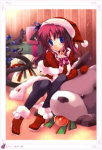 Rating: Safe Score: 26 Tags: animal_ears christmas minazuki_haruka neko nekomimi tail thighhighs User: crim