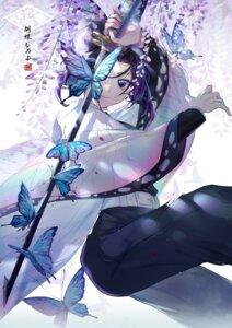 Rating: Questionable Score: 37 Tags: ekita_gen kimetsu_no_yaiba kochou_shinobu sword User: Dreista