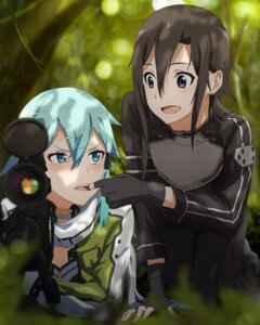 Rating: Safe Score: 47 Tags: gun_gale_online kirito m-ya sinon sword_art_online weapon User: sylver650
