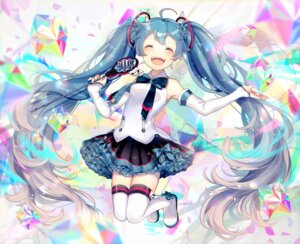 Rating: Safe Score: 33 Tags: hatsune_miku thighhighs uiyuzo vocaloid User: Mr_GT