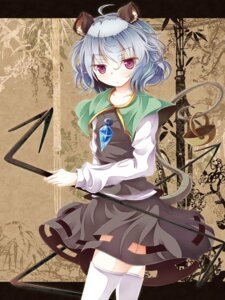 Rating: Safe Score: 11 Tags: animal_ears nazrin tamago_gohan thighhighs touhou User: hobbito