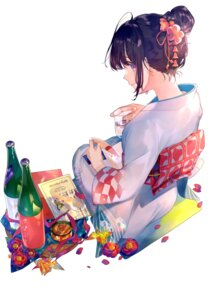 Rating: Safe Score: 47 Tags: kimono miwano_ragu sake User: hiroimo2