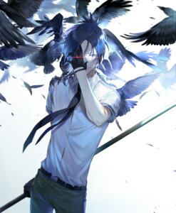 Rating: Safe Score: 16 Tags: ekita_gen heterochromia katekyo_hitman_reborn! male rokudou_mukuro weapon User: charunetra