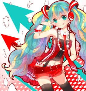 Rating: Safe Score: 19 Tags: hatsune_miku hina_(kirakira) pantsu thighhighs vocaloid User: Radioactive