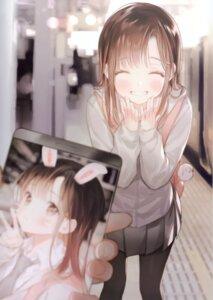 Rating: Safe Score: 52 Tags: animal_ears bunny_ears gomzi pantyhose seifuku sweater User: kiyoe