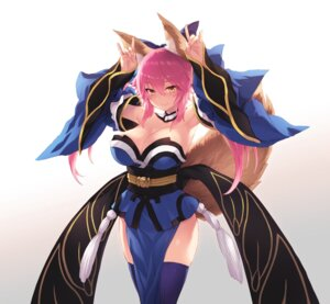 Rating: Safe Score: 38 Tags: animal_ears cait cleavage fate/grand_order japanese_clothes kitsune open_shirt tail tamamo_no_mae thighhighs User: charunetra