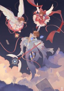 Rating: Safe Score: 7 Tags: card_captor_sakura dress heels kinomoto_sakura pantyhose tagme weapon wings User: Spidey