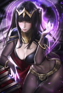 Rating: Safe Score: 94 Tags: bodysuit cleavage fire_emblem fire_emblem_kakusei sakimichan tharja User: Mr_GT