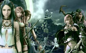 Rating: Safe Score: 29 Tags: armor bodysuit caius_ballad cg dress final_fantasy final_fantasy_xiii final_fantasy_xiii-2 lightning noel_kreiss paddra_nsu-yeul serah_farron square_enix sword thighhighs wallpaper User: HarrisonBrown