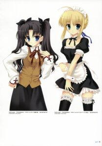 Rating: Safe Score: 22 Tags: fate/stay_night garter lycée maid mitha saber seifuku thighhighs toosaka_rin User: SubaruSumeragi