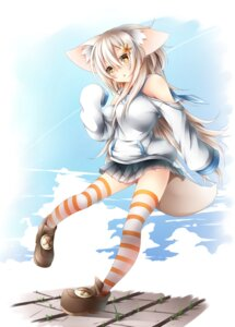 Rating: Safe Score: 34 Tags: animal_ears tail thighhighs tyaba_neko User: 椎名深夏