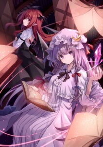 Rating: Safe Score: 16 Tags: animal_ears dress koakuma kure~pu patchouli_knowledge pointy_ears tail touhou wings User: Arsy