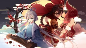 Rating: Safe Score: 29 Tags: armor asian_clothes kyuri_tizu luo_tianyi sword vocaloid yuezheng_ling User: nphuongsun93