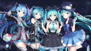 Rating: Safe Score: 86 Tags: dress hatsune_miku headphones kuroi_asahi thighhighs vocaloid User: Mr_GT