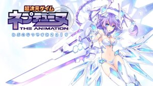 Rating: Safe Score: 34 Tags: bikini_armor choujigen_game_neptune cleavage purple_heart sword thighhighs tsunako wallpaper wings User: Nepcoheart