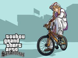 Rating: Safe Score: 11 Tags: grand_theft_auto parody touhou wallpaper yakumo_yukari yukiman User: konstargirl