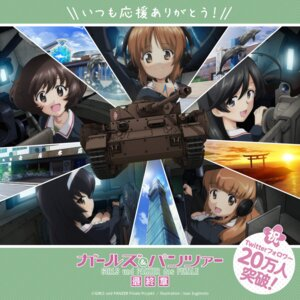 Rating: Safe Score: 7 Tags: akiyama_yukari girls_und_panzer headphones isuzu_hana nishizumi_miho reizei_mako sugimoto_isao takebe_saori uniform User: saemonnokami