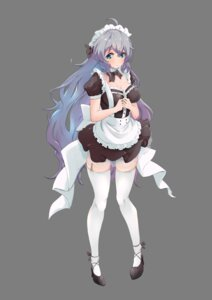 Rating: Safe Score: 21 Tags: akisuko cleavage heels maid senki_zesshou_symphogear stockings thighhighs yukine_chris User: BattlequeenYume