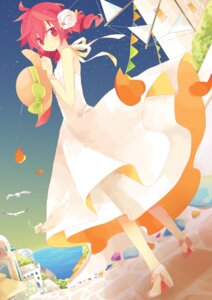 Rating: Safe Score: 31 Tags: dress heels kasane_teto summer_dress utau yoshiki59 User: KazukiNanako