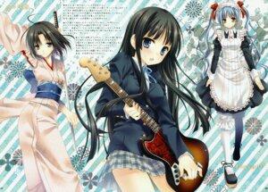 Rating: Safe Score: 31 Tags: akiyama_mio bloomers dress guitar k-on! kara_no_kyoukai kimono maid maria_holic ryougi_shiki seifuku shinouji_matsurika sword tatekawa_mako wnb yukata User: mmqmxsg