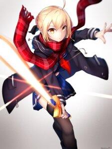 Rating: Safe Score: 18 Tags: fate/grand_order heroine_x_alter kano_(kanokano44) seifuku sword thighhighs User: Nepcoheart