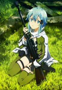 Rating: Safe Score: 95 Tags: gun gun_gale_online ochiai_hitomi sinon sword_art_online thighhighs User: drop