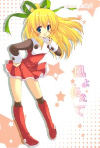 Rating: Safe Score: 17 Tags: dress fukunoren rockman roll thighhighs yukiwo User: aoie_emesai