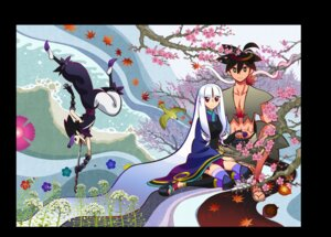 Rating: Safe Score: 16 Tags: japanese_clothes katanagatari maniwa_koumori sword thighhighs togame yasuri_shichika User: herpderp