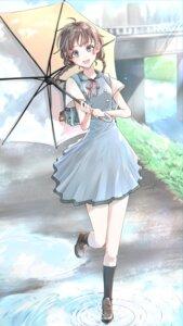 Rating: Safe Score: 8 Tags: seifuku tagme umbrella wet User: saemonnokami