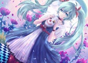 Rating: Safe Score: 45 Tags: alicetype dress hatsune_miku pantyhose vocaloid User: KazukiNanako