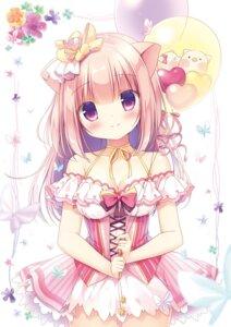 Rating: Safe Score: 30 Tags: animal_ears canvas+garden cleavage dress miyasaka_nako rowa tagme User: lightsnow