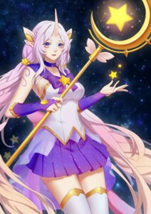 Rating: Safe Score: 25 Tags: horns league_of_legends pointy_ears soraka tagme thighhighs weapon User: Anemone