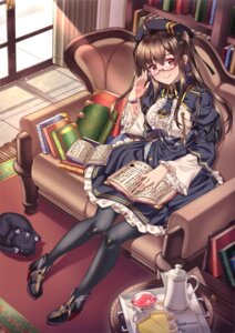 Rating: Safe Score: 35 Tags: azur_lane gothic_lolita heels lolita_fashion london_(azur_lane) megane merufena neko pantyhose User: Mr_GT
