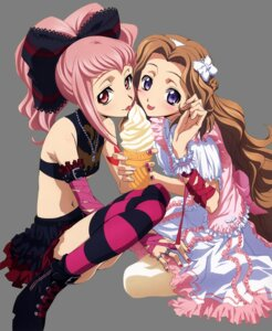 Rating: Safe Score: 45 Tags: anya_alstreim code_geass dress lolita_fashion nunnally_lamperouge thighhighs transparent_png User: Yomiki93