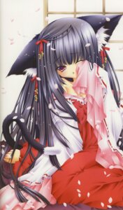 Rating: Safe Score: 10 Tags: amamiya_polan animal_ears miko nekomimi User: yumichi-sama