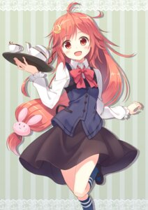 Rating: Safe Score: 93 Tags: hyuuga_azuri kantai_collection uzuki_(kancolle) waitress User: KazukiNanako