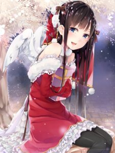 Rating: Safe Score: 64 Tags: ao_no_neko christmas dress pantyhose wings User: Mr_GT