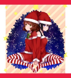 Rating: Safe Score: 19 Tags: christmas dougedou_(twt) dress hibike!_euphonium kousaka_reina oumae_kumiko pantyhose thighhighs User: hamasen205