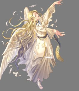 Rating: Questionable Score: 2 Tags: angel fire_emblem fire_emblem:_souen_no_kiseki fire_emblem_heroes nintendo pointy_ears rafiel shimomura_watari torn_clothes wings User: fly25