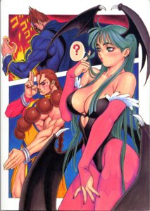 Rating: Safe Score: 12 Tags: breasts capcom cleavage dark_stalkers demitri_maximoff donovan_baine kacchuu_musume leotard morrigan_aensland no_bra pantyhose tsukasa_jun wings User: Radioactive