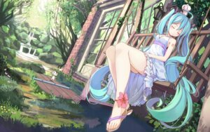Rating: Safe Score: 141 Tags: beek dress hatsune_miku vocaloid wallpaper User: fairyren