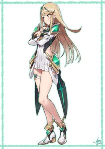 Rating: Safe Score: 66 Tags: armor baffu breast_hold cleavage garter heels hikari_(xenoblade_2) xenoblade xenoblade_chronicles_2 User: Spidey