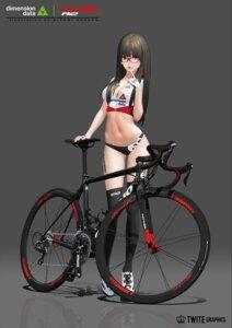 Rating: Questionable Score: 39 Tags: buruma cleavage hitomi_kazuya megane tattoo thighhighs User: Dreista
