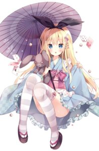 Rating: Safe Score: 80 Tags: hoshi japanese_clothes thighhighs umbrella User: TopSpoiler