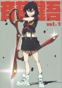Rating: Safe Score: 16 Tags: kill_la_kill matoi_ryuuko saitou_kengo sword User: vkun